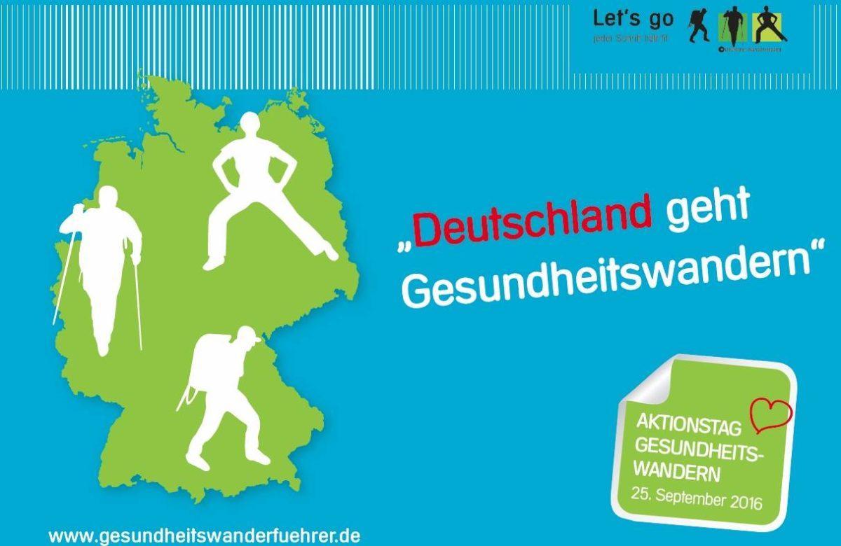 Bundesweiter Aktionstag Gesundheitswandern am 25. September